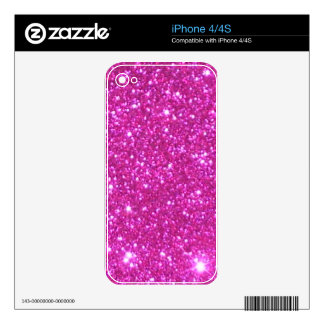 Encanto femenino de la materia del chica del iPhone 4S skin