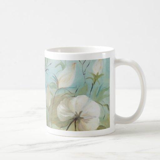 Encanto floral (vendido) taza básica blanca