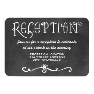 Encanto negro de la pizarra de la tarjeta el | de comunicados personalizados