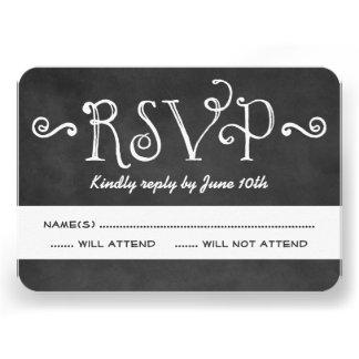 Encanto negro de la pizarra de la tarjeta el de invitaciones personalizada