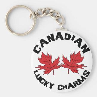 Encantos afortunados canadienses llavero redondo tipo pin
