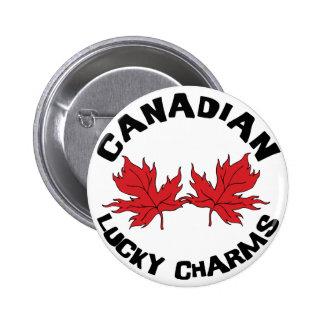 Encantos afortunados canadienses pin redondo 5 cm