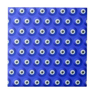 Encantos de buena suerte contra modelo de mal de azulejo cuadrado pequeño