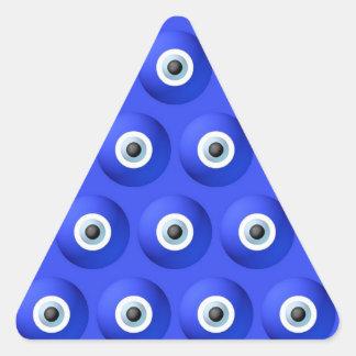 Encantos de buena suerte contra modelo de mal de pegatina triangular