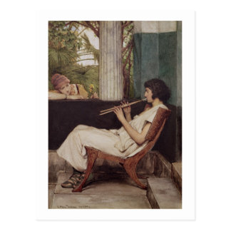Encantos de Hath de la música (aceite en lona) Tarjetas Postales