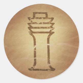 Encantos de la magia de la estabilidad del pilar pegatina redonda