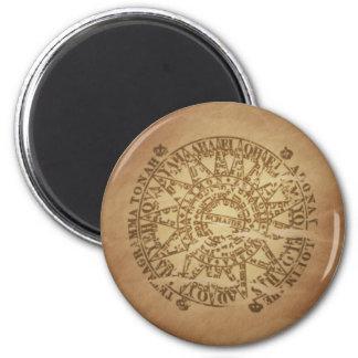 Encantos enterrados círculo mágico de la magia del imanes de nevera