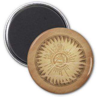 Encantos enterrados círculo mágico de la magia del imán de nevera