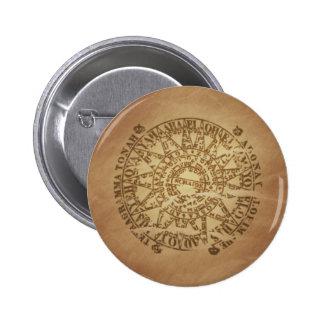Encantos enterrados círculo mágico de la magia del pin redondo de 2 pulgadas