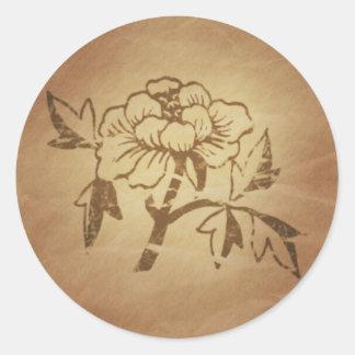 Encantos mágicos chinos del amor y del afecto del etiquetas redondas