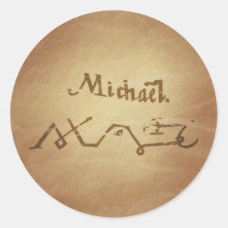 Encantos mágicos de la magia de la protección de etiqueta redonda