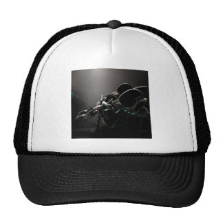 Encantos negros frescos abstractos gorra