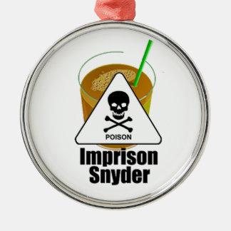 Encarcele a Snyder Adorno Navideño Redondo De Metal