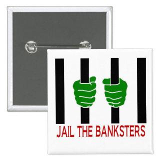 Encarcele el Banksters Pin Cuadrado