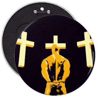 Encarcele la prisión y el cristianismo de la pin redondo de 6 pulgadas