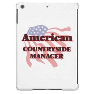 Encargado americano del campo funda para iPad air