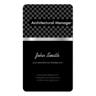 Encargado arquitectónico - a cuadros negro elegant tarjetas de visita