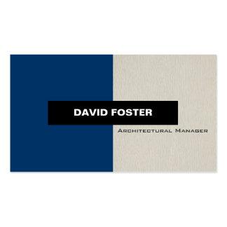 Encargado arquitectónico - elegante elegante tarjetas de visita
