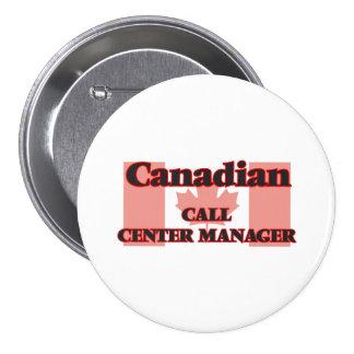 Encargado canadiense del centro de atención pin redondo de 3 pulgadas