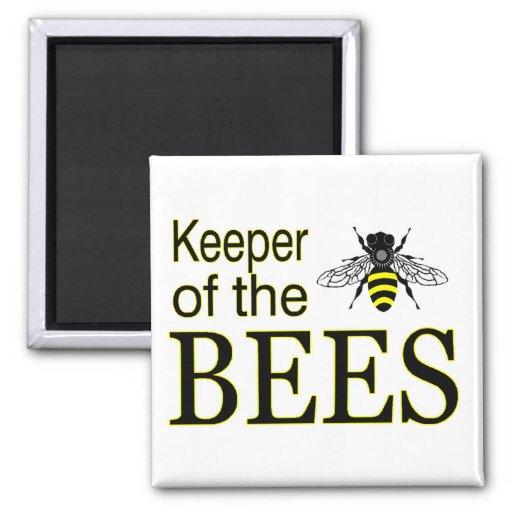 encargado de abejas imán cuadrado