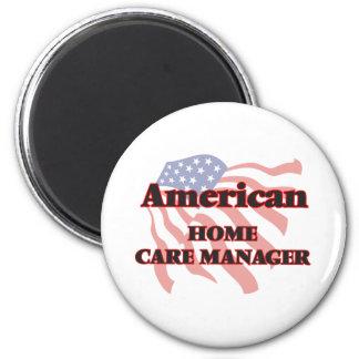 Encargado de cuidados en casa americano imán redondo 5 cm