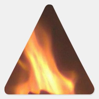 Encargado de demonio #2 pegatina triangular