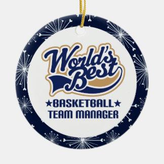 Encargado de equipo de baloncesto ornamentos de reyes magos