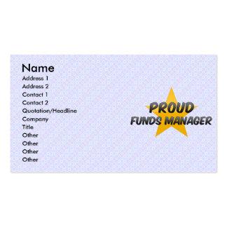Encargado de fondos orgulloso tarjeta de visita