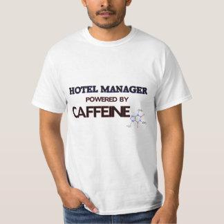 Encargado de hotel accionado por el cafeína remera