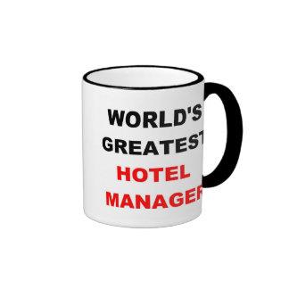Encargado de hotel taza de dos colores
