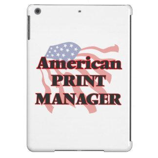 Encargado de impresión americano funda para iPad air