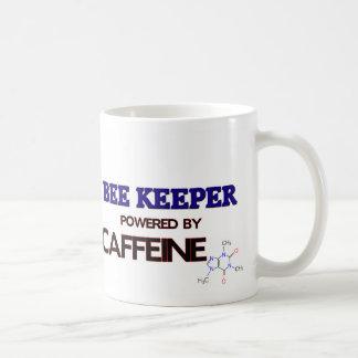 Encargado de la abeja accionado por el cafeína taza básica blanca