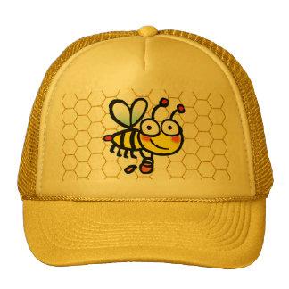 encargado de la abeja de la miel gorro de camionero