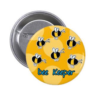 encargado de la abeja pin redondo 5 cm