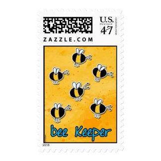 encargado de la abeja timbres postales