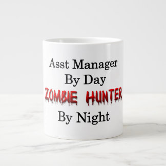 Encargado de la ayuda/cazador del zombi taza de café gigante