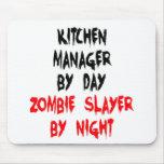 Encargado de la cocina del asesino del zombi tapetes de raton
