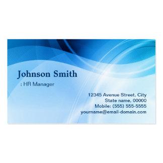 Encargado de la hora - creativo azul moderno tarjetas de visita