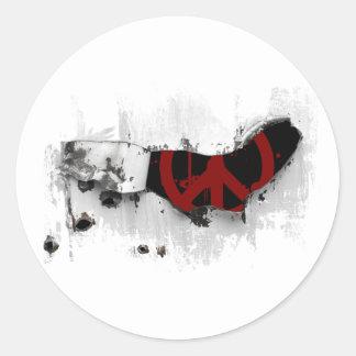 Encargado de la paz pegatina redonda
