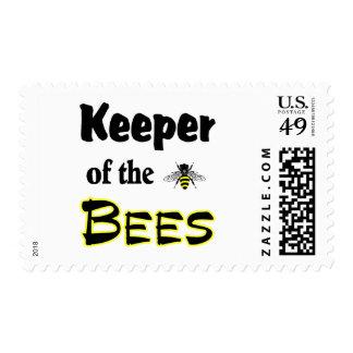 encargado de las abejas estampillas