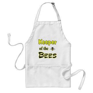 encargado de las abejas oscuras delantal