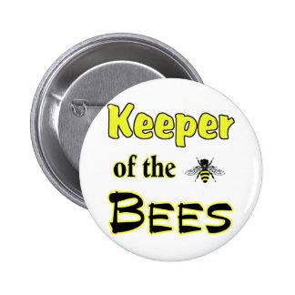 encargado de las abejas oscuras pin redondo 5 cm