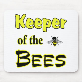 encargado de las abejas oscuras tapete de ratones