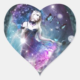 Encargado de las estrellas colcomanias corazon