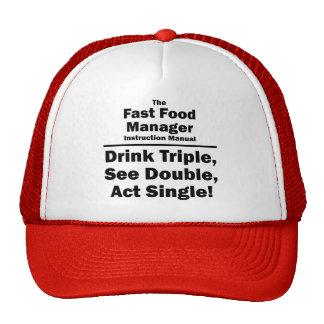 encargado de los alimentos de preparación rápida gorra