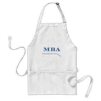 Encargado de MBA accidentalmente Delantal