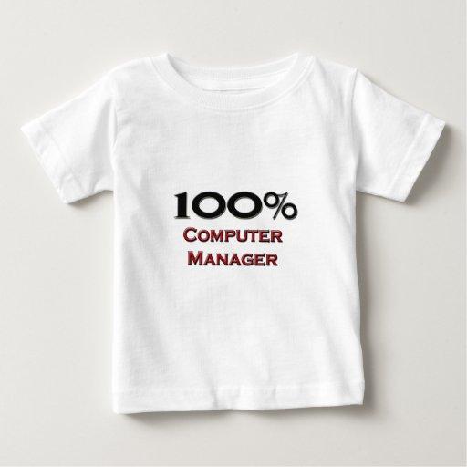 Encargado de ordenador del 100 por ciento tee shirt