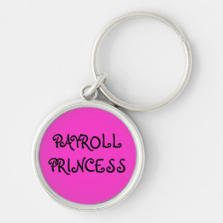 Encargado de princesa Woman Payroll de la nómina d Llavero Redondo Plateado