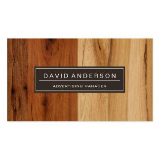 Encargado de publicidad - mirada de madera del tarjetas de visita