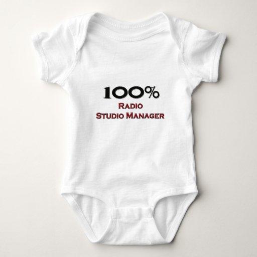 Encargado de radio del estudio del 100 por ciento camiseta